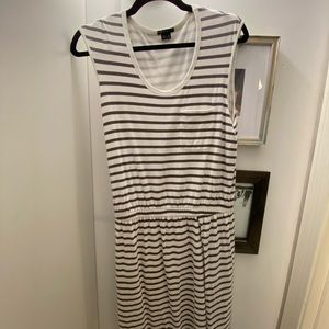 Theory Striped Cotton Dress